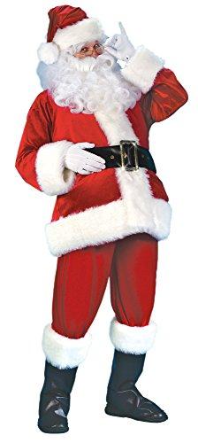 Unbekannt Weihnachtsmann Deluxe Kostüm aus rotem Samt und -