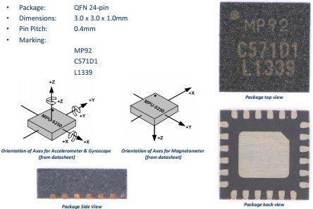 Aihasd MPU-9250 GY-9250 9 assi modulo sensore I2C/SPI Tre assi giroscopio +  accelerometro triassiale + triassiale Campo Magnetico