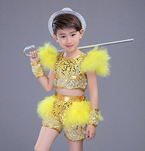 Kinder jazz dance kostüm modernen tanz hip-hop leistung kleidung , yellow1 , (Tanz Kostüme Hop Mädchen Hip)