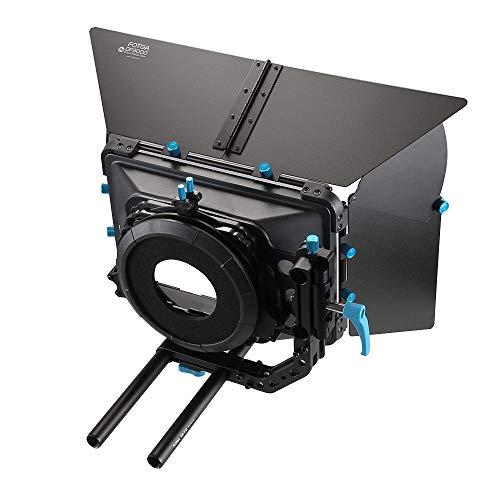 Fotga DP3000 Matt Box für 15mm Schiene Grundplatte Folgen Fokus A7 A7R A7 II III GH4 GH5 5DIII 5DIV Objektiv (M3 Matte Box) Dv-matte Box