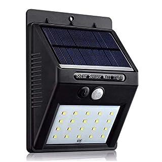 LED Solarleuchten 2 Stk. Wande Solarlampe für Aussen Bewegungsmelder Wasserdicht IP64(2-SOLAR)