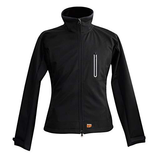 Beheizbare Softshell Jacke für Frauen (Schwarz, M) (Thermo-funktionsjacke Frauen)