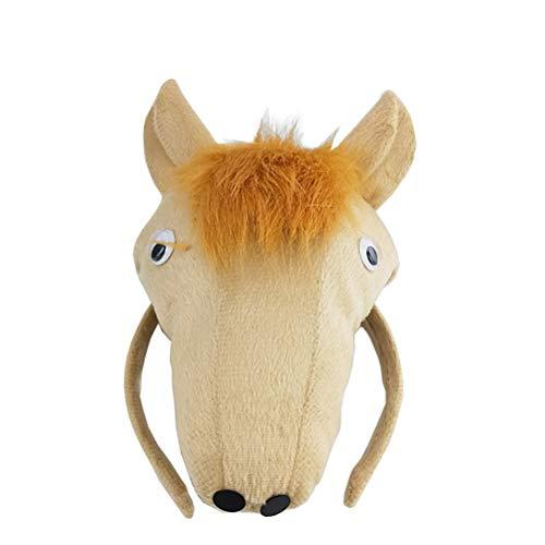 Amosfun Pferdekopfform Stirnband Haarschleife Haarspange Rollenspiele Tierrequisiten Leistungsrequisiten für Cosplay Party Halloween Kostüme Kinder Party Dekoration (Machen Pferd Die Ohren Kostüm)