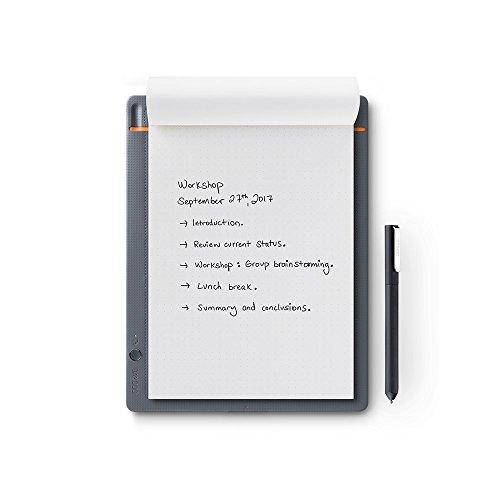Wacom Bamboo Slate Smartpad A5/Kleines Notepad mit Digitalisierungs-Funktion inkl. Eingabestift mit Kugelschreibermine/Kompatibel mit Android und Apple