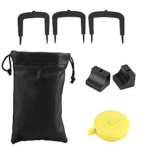 BESTEU Golf Putter Kit Golf Putting Target Alignment Tor Putt Tür Golf Trainer Set Golf Target Trainingszubehör