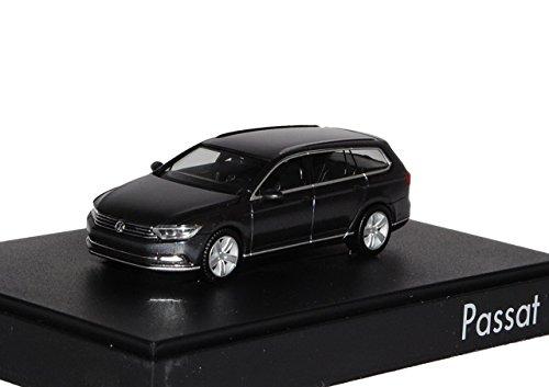 VW Volkswagen Passat B8 Variant Indium Grau Ab 2014 H0 1/87 Herpa Modell Auto mit individiuellem Wunschkennzeichen