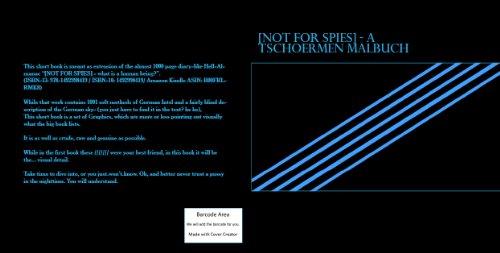 [NOT FOR SPIES] - A TSCHOERMEN MALBUCH (English Edition)