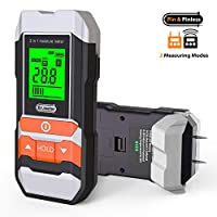 [Upgrade] Wood Moisture Meter, Dr.meter 2 in 1 Pin & Pinless Multifunctional Firewood/Wall/Building/Furniture Humidity Water Detector, Pin-type & Scanner Wood Moisture Tester