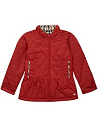 Aquascutum Junior Girls Tamira Red Quilted Jacket -Red-6 years