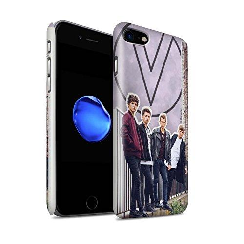 Offiziell The Vamps Hülle / Glanz Snap-On Case für Apple iPhone 7 / Rot Stift Muster / The Vamps Doodle Buch Kollektion Ausgeschnitten