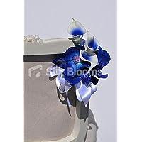 Mezzanotte blu Vanda Orchidea e Vermeer Calla Lily Wedding Pew Fine
