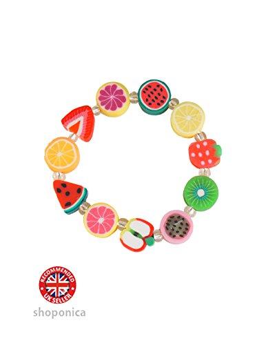 mixed-fruit-slice-bead-stretch-bracelet