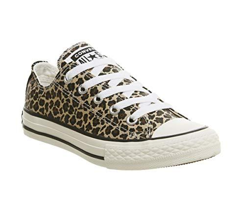 Converse Chuck Taylor All Star Core Ox Sneaker für Kinder, Mehrfarbig - Leopard - Größe: 35 EU
