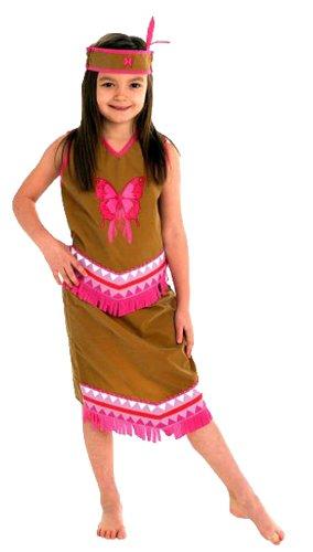 Imagen de erdbeerloft–niña carnaval indios indios niña pocahontas disfraz, todas las piezas visibles, color marrón rosa, muchos tamaños