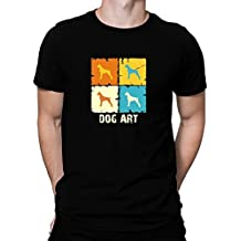 Teeburon Boxer DOG ART POP ART Camiseta
