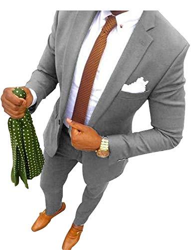 Beste Morph Anzüge - UMISS Herren 2-teiliges Classic Fit Anzug