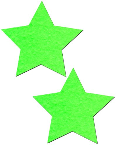 Pastease Damen Glow in the Dark, Neon Green Star Nippel Pasties