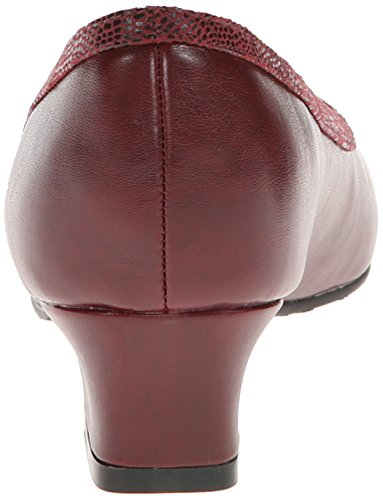 Soft Style by Hush Puppies Women's Lanie Dress Pump, Black, 10 XW US Wine Vitell PU/Lizard Fabric