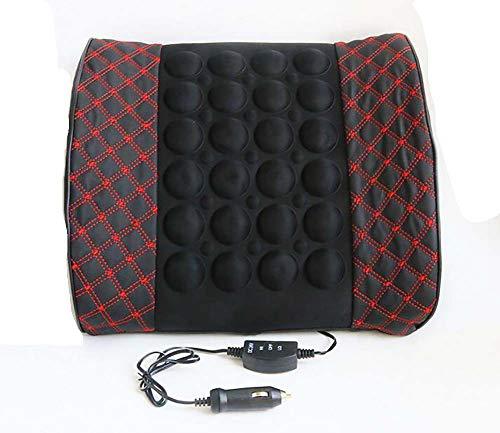Bmdha cuscino per auto cuscino per massaggio elettrico confortevole morbido lombare massaggiare la vita alleviare l'affaticamento della guida alimentazione 12v / 24v,24v
