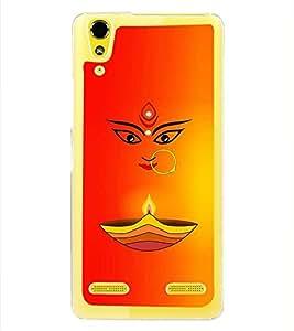 PrintVisa Jai Jay Maa Ambey High Glossy Metal Designer Back Case Cover for Lenovo A6000 :: Lenovo A6000 Plus :: Lenovo A6000+