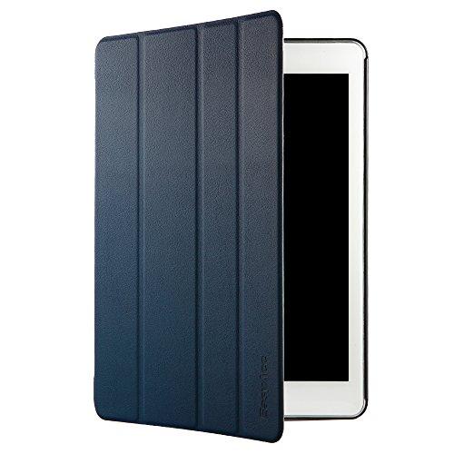 EasyAcc iPad Air 2 Smart Case Cover Ledertasche Schutzhülle Bumper Hüllen Tasche Leder Hülle Ultra Slim Lederhülle Flip Case Etui mit Standfunktion / Auto Sleep Wake up für iPad Air 2 / ipad 6 - Dunkelblau, Ultra Slim