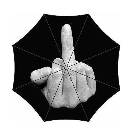 WILLIAM&KATE Reisen Winddichter Erect Mittlerer Finger Lustiger Kreativer Drei Falten Sonniger Regenschirm Im Freien Gebrauch