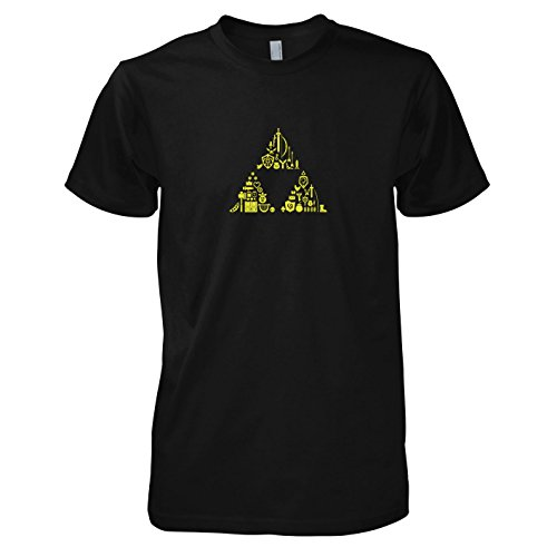 TEXLAB - Link's Stuff - Herren T-Shirt, Größe M, (Hyrule Kostüme Warriors Link)