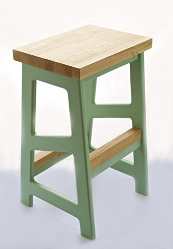 Bespoke Solid Oak 65cm(H) WHITE Modern Breakfast Kitchen Bar Stool
