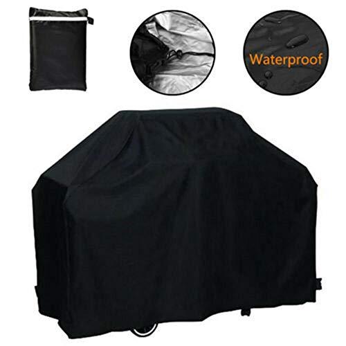 Ddmlj copertura per barbecue copertura per barbecue impermeabile protezione per barbecue portatile nera 3xs / 2xs / xs/s/m-145x61x117cm s