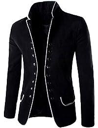 Homme Costumes Manteau Veste Classique Blouson Manches Longues Rétro