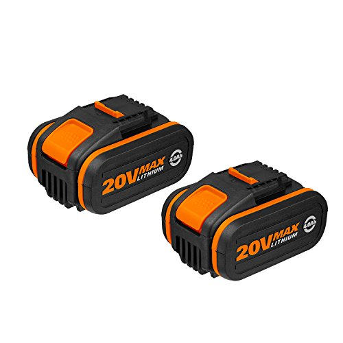 Worx WX3553.2 Batterie al Litio Worx Power Share 20V, Set da 2 Pezzi, 4.0Ah