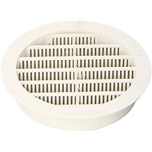 Brunner 206/875 - Rejilla de ventilación (redonda, 100 mm, plástico ABS), color blanco