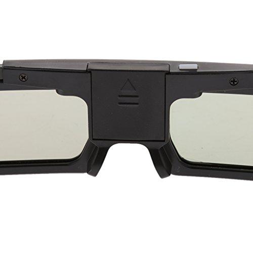 MagiDeal 3D Active Shutter Brille Batteriebetrieb Bluetooth Brille für Panasonic , 3D Projektor TV