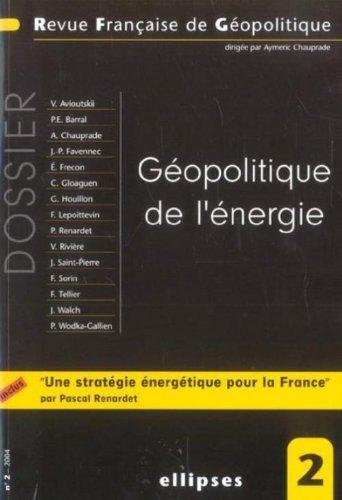 Revue française de géopolitique, N° 2...