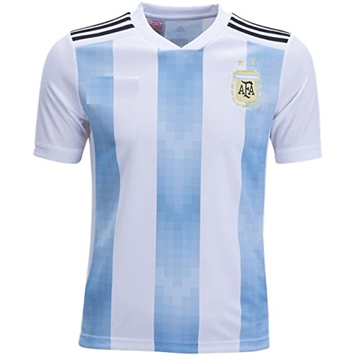 ARGENTINA HOME FOOTBALL JERSEY SET 2018 WORLD CUP JERSEY REPLICA (Large)
