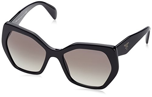 Prada 0pr16rs 1ab0a7 56 occhiali da sole, nero (black/gradient), donna