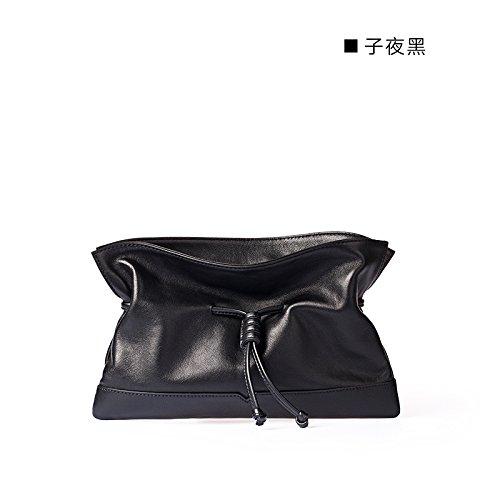 Simple et original nouveau cuir sacs à main sacs d'embrayage simple enveloppe Midnight black