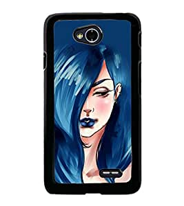 Beautiful Girl with Blue Hair 2D Hard Polycarbonate Designer Back Case Cover for LG L70