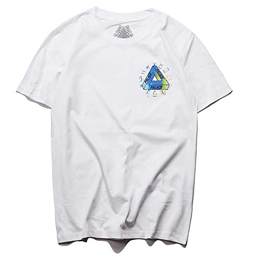 Rainbow Apple Triangle PALACE Graphic Tee Unisex Casual T-Shirts 2019 Fashion