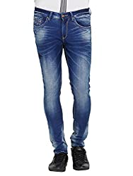 Spykar Mens Blue Super Skinny Fit Low Rise Jeans (28)