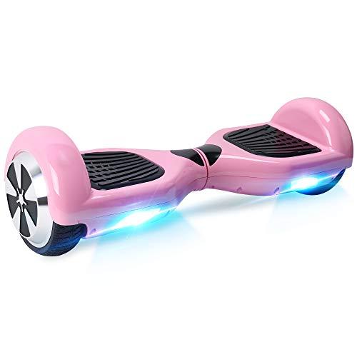 """BEBK Hoverboard, 6.5\"""" Elektro Scooter mit 2 * 250W Motor, LED Lights, Self Balance Scooter E-Skateboard (Pink)"""