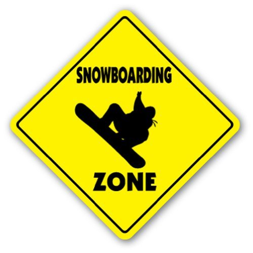 SignMission Snowboarden Crossing Sign Zone Xing |-| 30,5 cm Hoch Sport Ski Mountain Snowboarder Schnee, Board