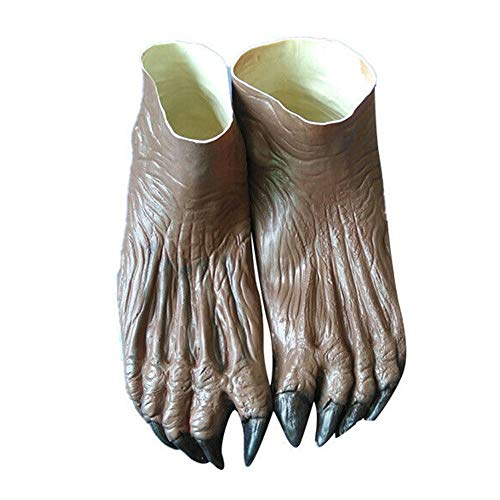 AEVEN✿ Werewolf Ghost Hands Gloves/Feet Shoes - Adult Halloween Dance Party Cosplay Costume Fancy Dress Haunted - House Props Costume Supplies for Men, Women & (Just Dance Kostüm)