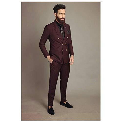 GFRBJK Coat Pant Designs Zweireihiger Herrenanzug Stylish Classic Made Men Tuxedo 2 Stück ces Grau , 6XL -