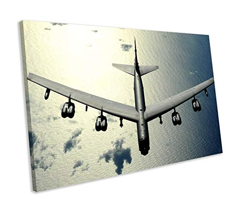 UKSILYHEART Unframe Canvas Printing Wall Decor B-52 Bomber Airplane Aircraft Canvas Print Wall Art Framed Picture Ready to Hang Wall Decoration for Living Room/Bed Room -