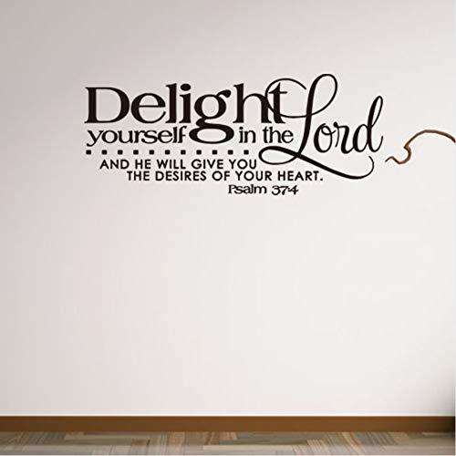 UPUPUPUP Biblische Psalm Sprüche Wandaufkleber Wohnkultur Wohnzimmer Kunst Wand Hintergrund Wandtattoos Removable Aufkleber Wandbild