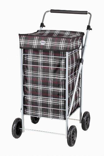 Hoppa 4 Wheel Shopping Trolley Black by (Nero)