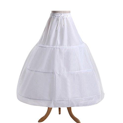 VENI MASEE Damen 3 Hoops Petticoat Ball Kittel Krinoline Halber Slip Partei/Prom/Hochzeit/Halloween Geschenk