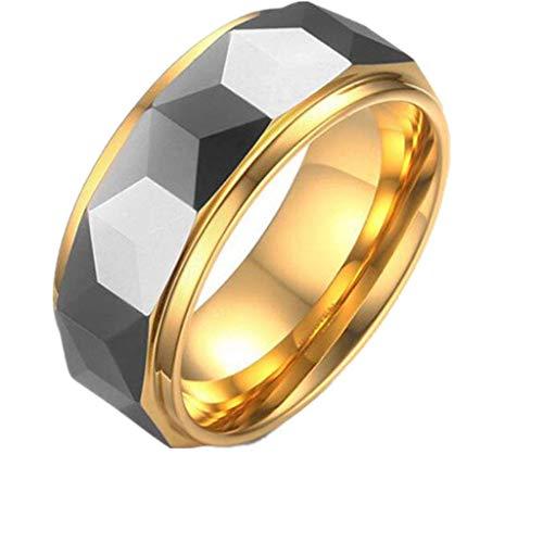 Urne Medaillon,Asche, Herrenring Edelstahl Achat Gold Ring 03, Blau, 8, Größe: 8, Farbe: Schwarz Trichter FüLlen-Kit Inklusive (Color : Gold, Size : 12)
