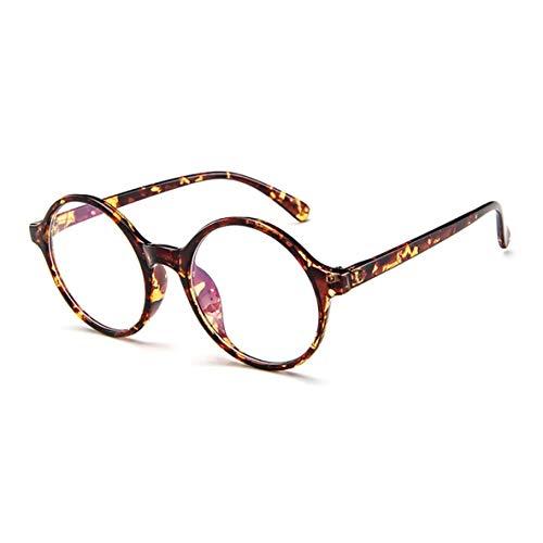 Noradtjcca Round Full Frame Plain Brillen Kunststoff Optische Rahmen Einfache Metall Frauen/Männer Brillengestell